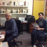 Alex Eugster mit Melanie Kollbrunner im Musikstudio