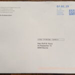 Briefumschlag (Vorderseite) CD Geschenk