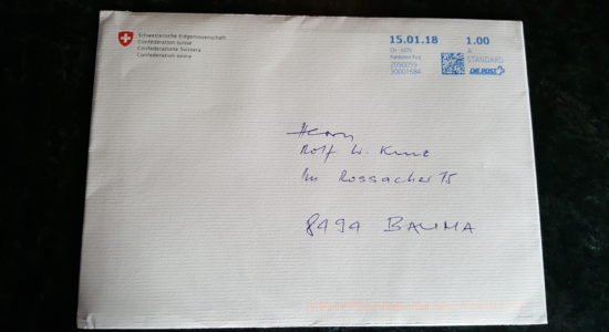 Envelope from Ueli Maurer
