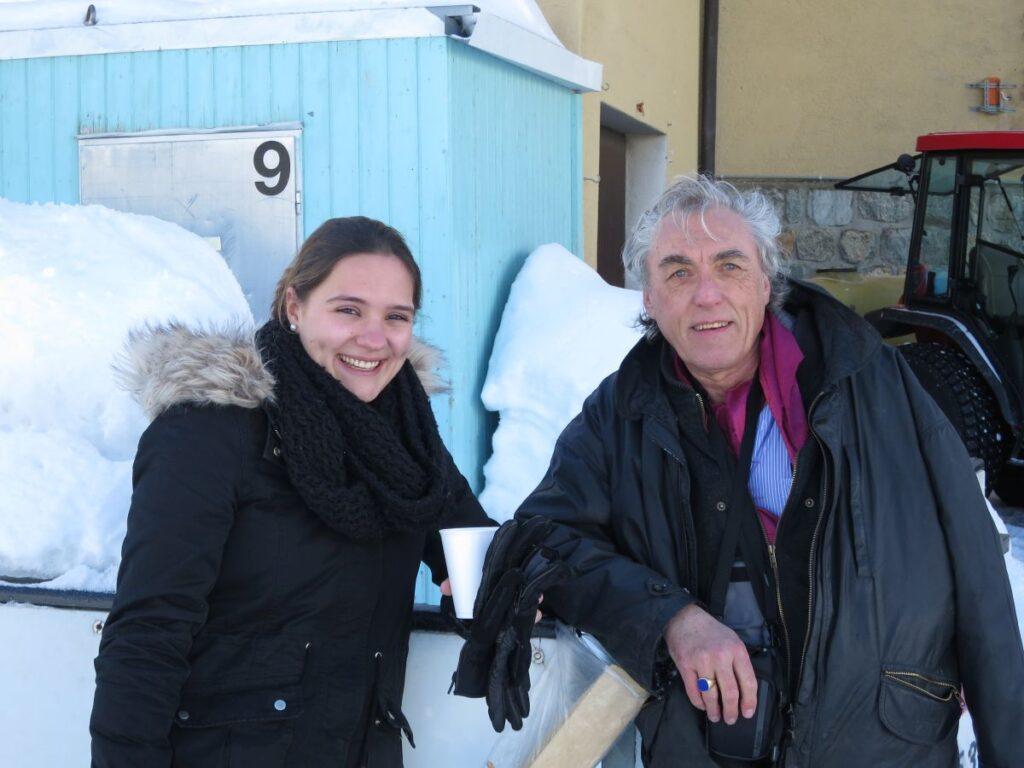 Rolf W. Kunz & Zuschauerin in Bivio