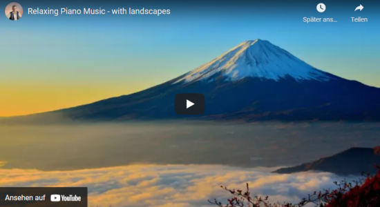 Relaxation music with landscape images
