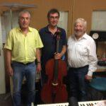 Rolf W. Kunz (Komponist), Luzius Gartmann (Cellist), Alex Eugster (Tonmeister)